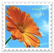 Sunshine Award: Include the award's logo in a post on your blog. Answer 10 questions about yourself. Nominate 10 other bloggers. Link your nominees to the post and comment on their blogs letting them know they have been nominated. Share the love and link the person who nominated you.