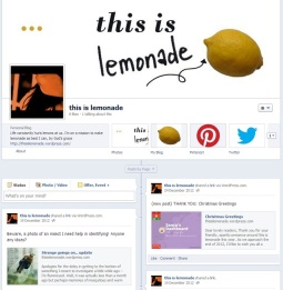 this is lemonade on Facebook