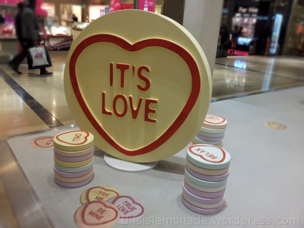 Love Hearts at Westfield E20 | this is lemonade