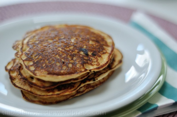 Gluten Free Banana and Peanut Butter Pancakes | this is lemonade
