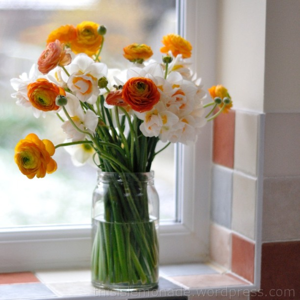 Daffodills and Ranunculus - thisislemonade.wordpress.com