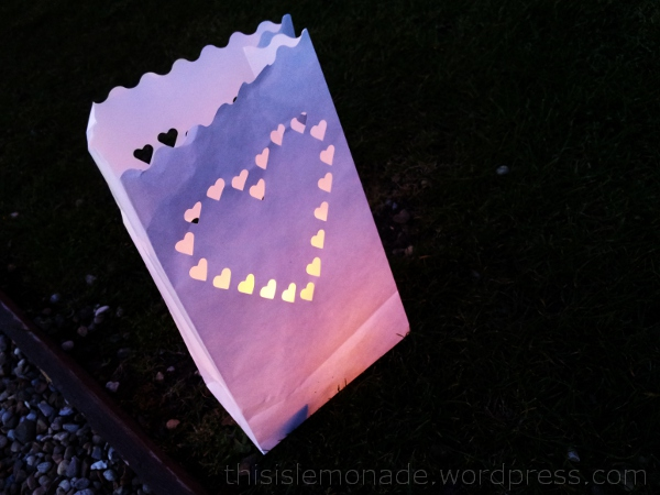 paper bag candlelight