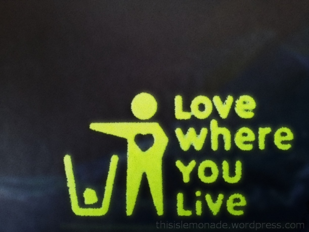 McDonalds litter notice - love where you live
